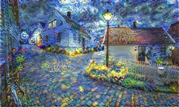 deep dream painting AI