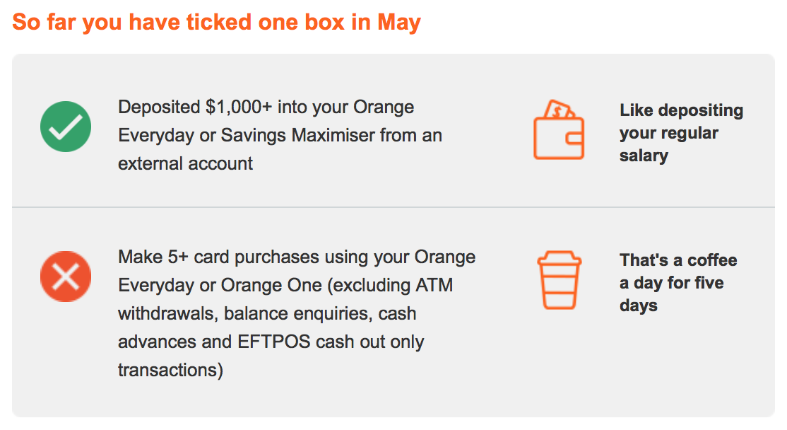 ING account monthly fee email