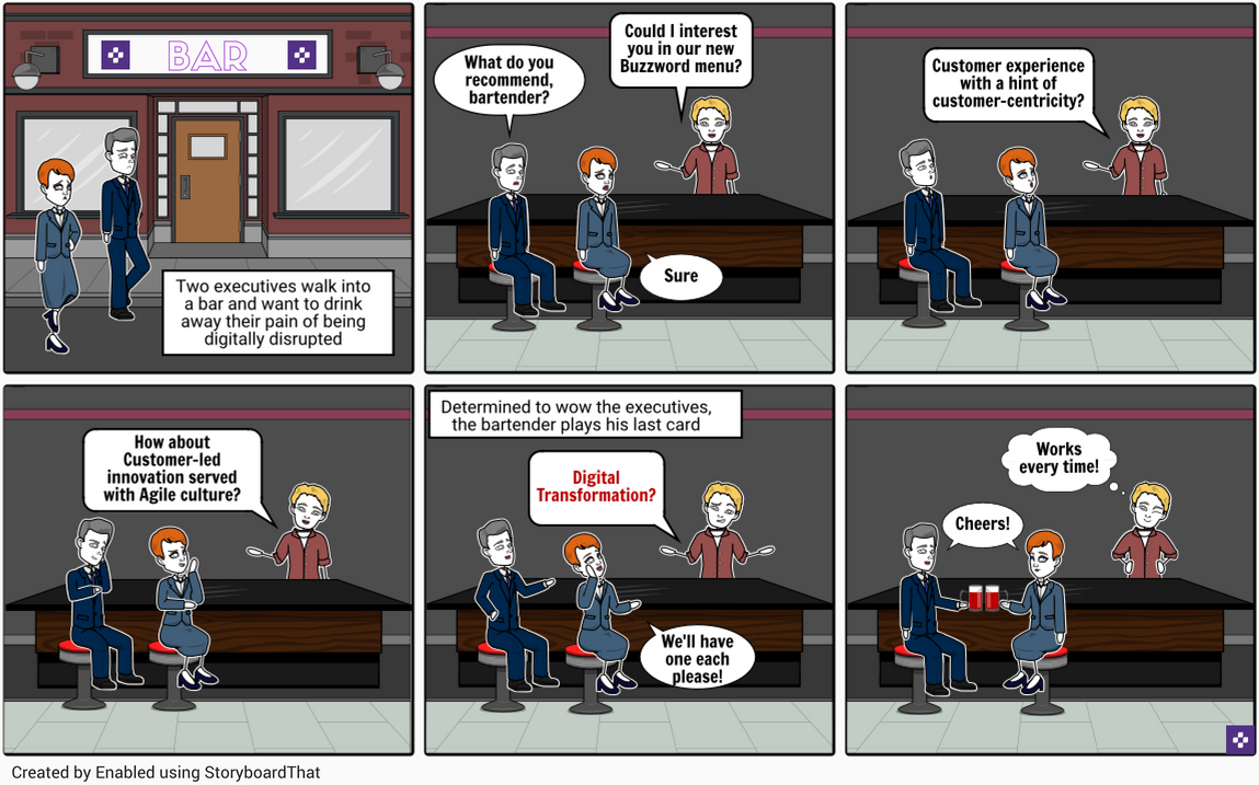 digital transformation comic