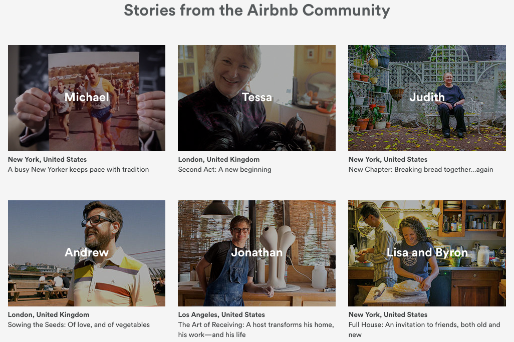 Airbnb user stories